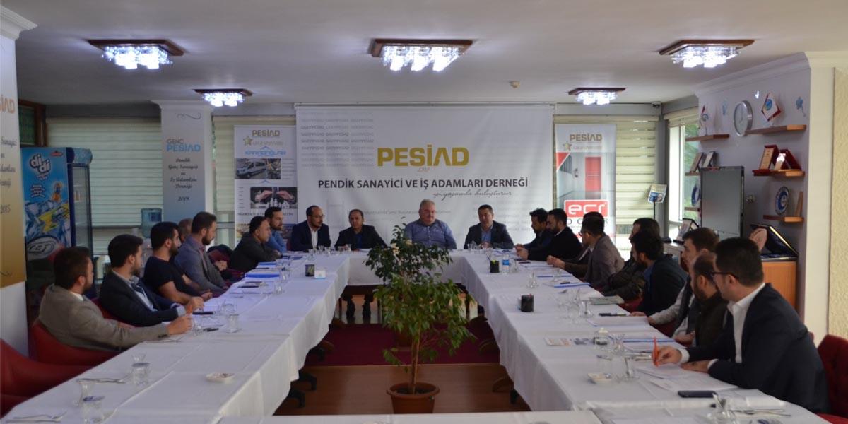 Haftalık Olağan Yönetim Kurulu Toplantımızı PESİAD Yönetim Kurulu İle Ortak Yaptık
