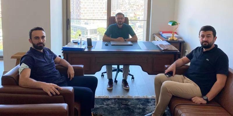 Yönetim Kurulu Üyemiz Yunus Emre Özbek'i Ofisinde Ziyaret Ettik