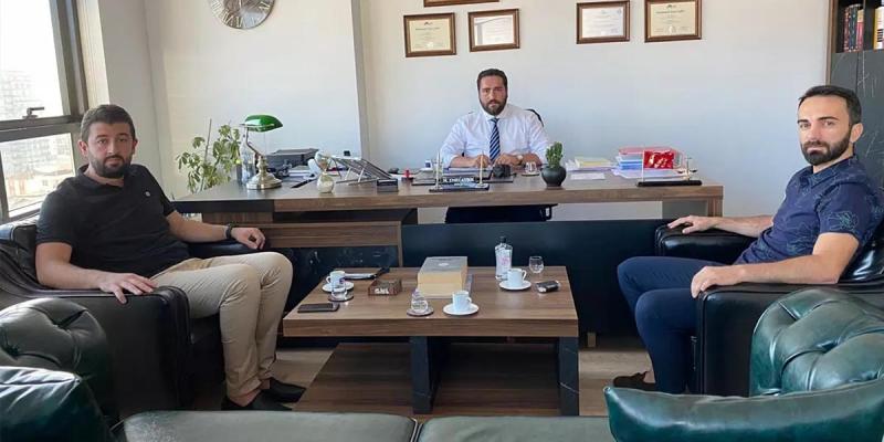 Yönetim kurulu üyemiz Emre Aydın'ı ofisinde ziyaret Ettik